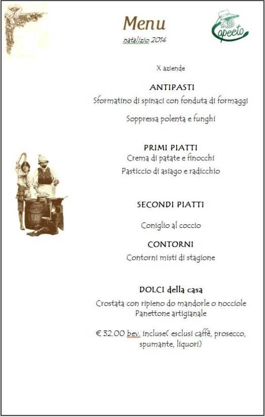 menu natale 2014