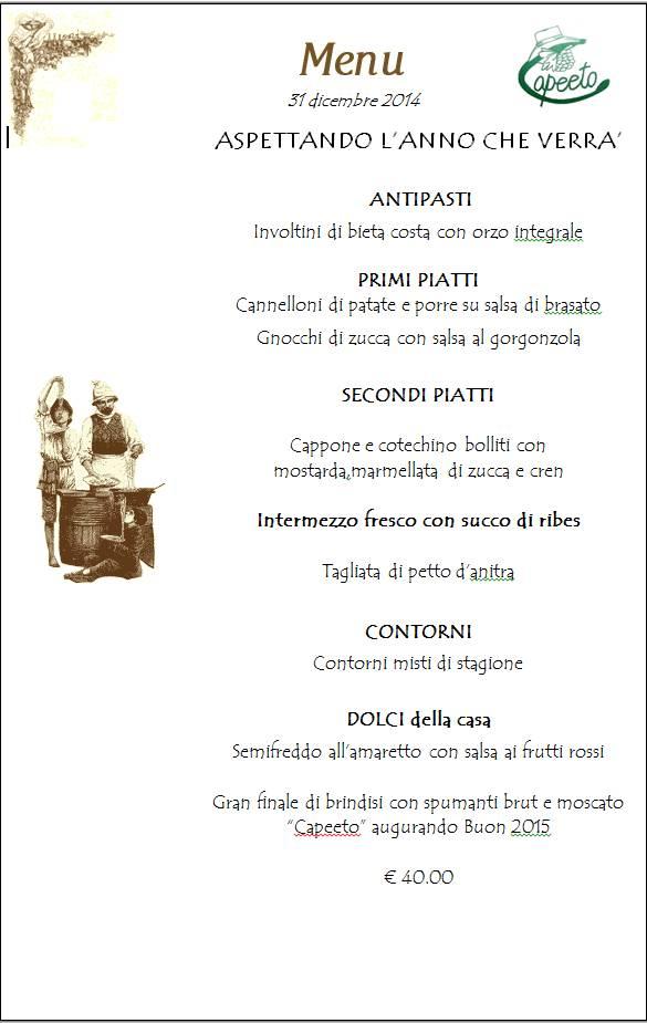 menu san silvestro 2014